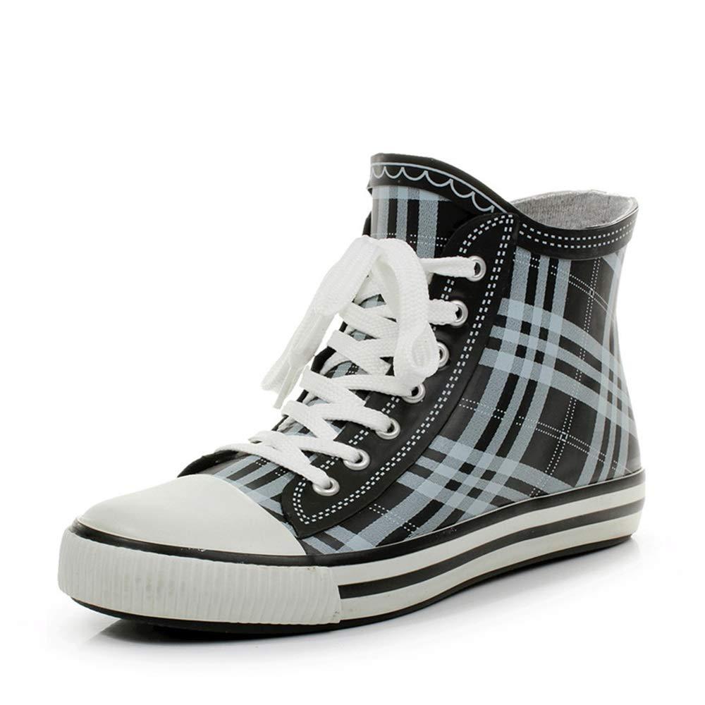 Botte de jarde pluie imperméable Grau und und und weiß Herren Regen Schuhe Herren Low Tube Stiefel Kurze Wasserschuhe Angeln Schuhe und Gummi Schuhe (Größe   42 2 3 EU) 5ed08f