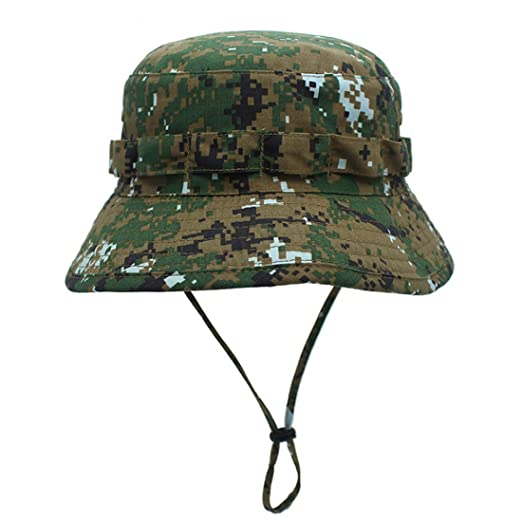4f853a67c5b Jormatt Boonie Hat Camo Cap Military Hunter Bucket Hats Adjustable Jungle  Bush Hat
