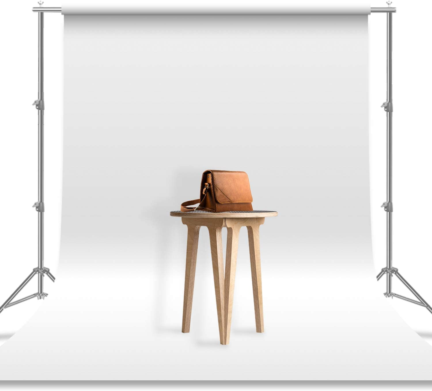 Julius Studio 6 x 9 ft. / 1.8 x 2.8 M/White Photo Video Photography Studio Fabric 100% Pure Backdrop Background Screen, JSAG103