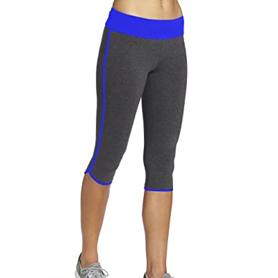 ABUSA Women's Power Flex Capris Leggings Tummy Control Workout Running Athletic Fitness Sports Yoga Pants - Clearance