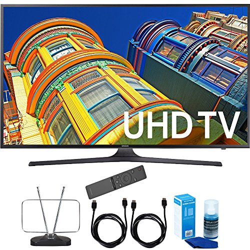 Samsung-UN55KU7000-55-Inch-4K-UHD-HDR-Smart-LED-TV-KU7000-7-Series-Cord-Bundle-Includes-Durable-HDTV-and-FM-Antenna-2x-6ft-High-Speed-HDMI-Cable-Screen-Cleaner-Large-Bottle-for-LED-TVs