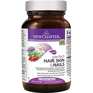 Amazon.com: New Chapter Hair Skin and Nails Vitamins with Fermented ...