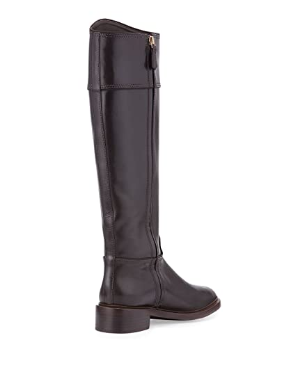 357c92fd6cb1 Tory Burch Lowell Logo Riding Leather Boots 8 Coconut  Amazon.ca  Shoes    Handbags