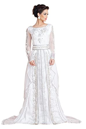 41f502899af Kolkozy Fashion Women s Designer Handmade Arabic Moroccan Long Sleeve  Wedding Caftan Size XS