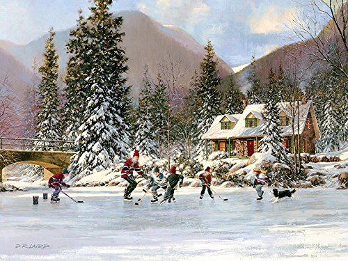 Cobble Hill Next Goal Wins! Ice Hockey Winter 400 Piece Jigsaw Puzzle (98670)