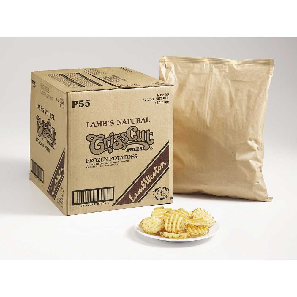 Lamb Weston Natural Crisscut Potato Fry, 4.5 Pound -- 6 per case.