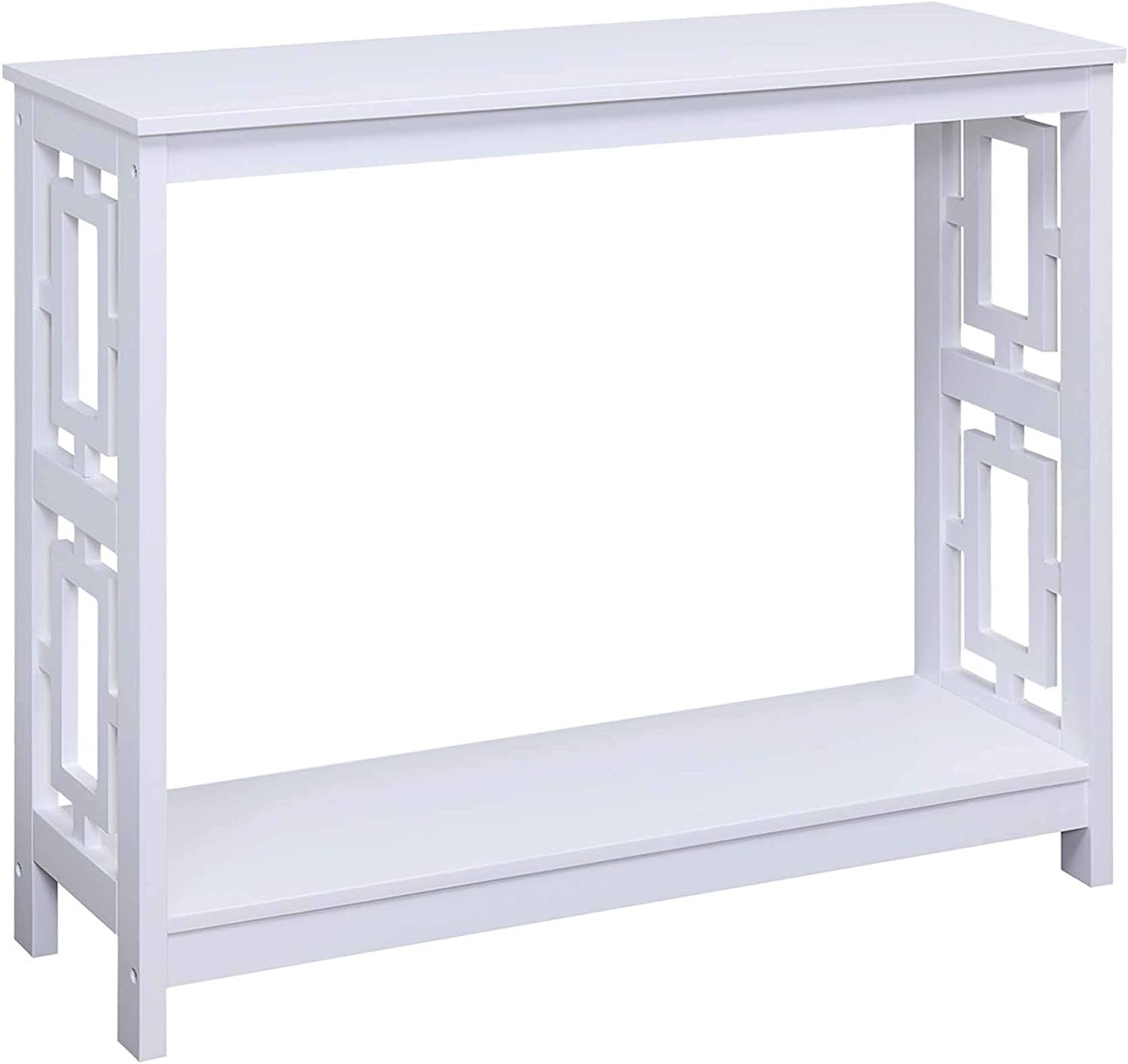 Convenience Concepts Town Square Console Table, White