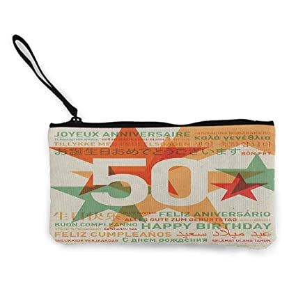 TTmom Carteras de Mujer,Monedero,50th Birthday Happy ...