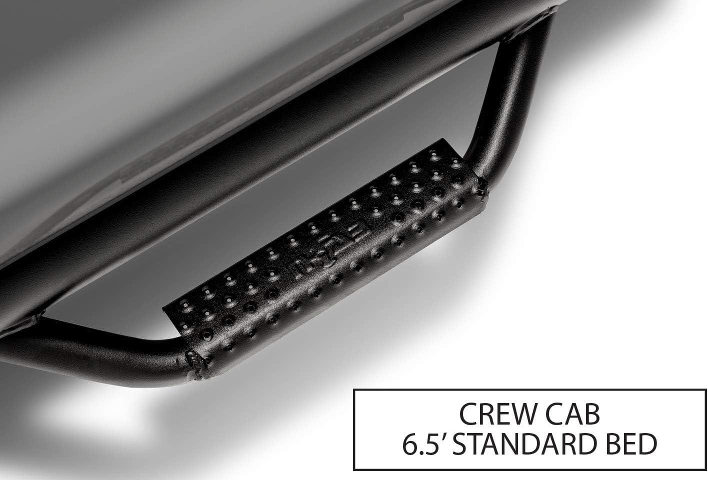 2 Pack N-Fab C1775CC-TX Textured Black Nerf Step Cab Length Black-C1775CC-TX