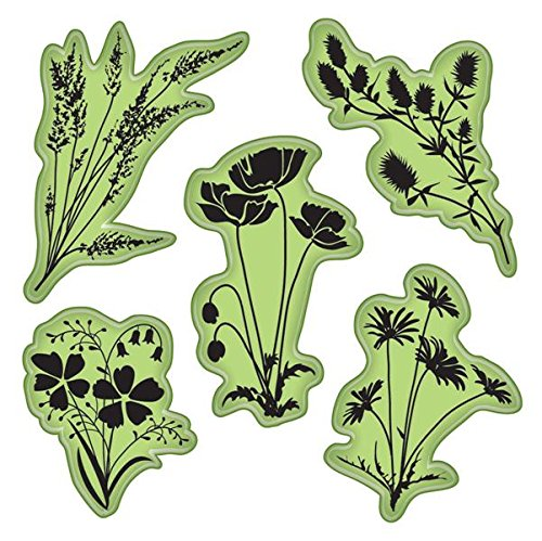 Deluxe Designs Scrapbook Paper (Inkadinkado 65-32080 Stamping Gear Cling Stamps, Meadow Flowers)