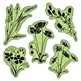 Inka Dinkado Stamping Gear Cling Stamps, Meadow Flowers