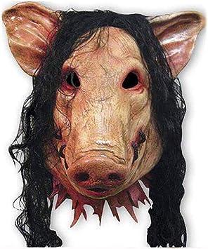 KTSKT Set Pig + Jigsaw Saw Mask con Pelo sintético Carnaval ...