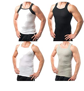89b09e6a4bcfb Different Touch 4 Mens G Unit Style Tank Top A Shirt Muscle Rib Undershirt  Assorted Colors