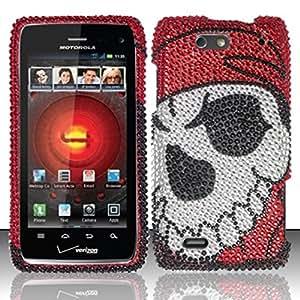 For Motorola Droid 4 XT894 Full Diamond Design Case Cover - Pirate Skull