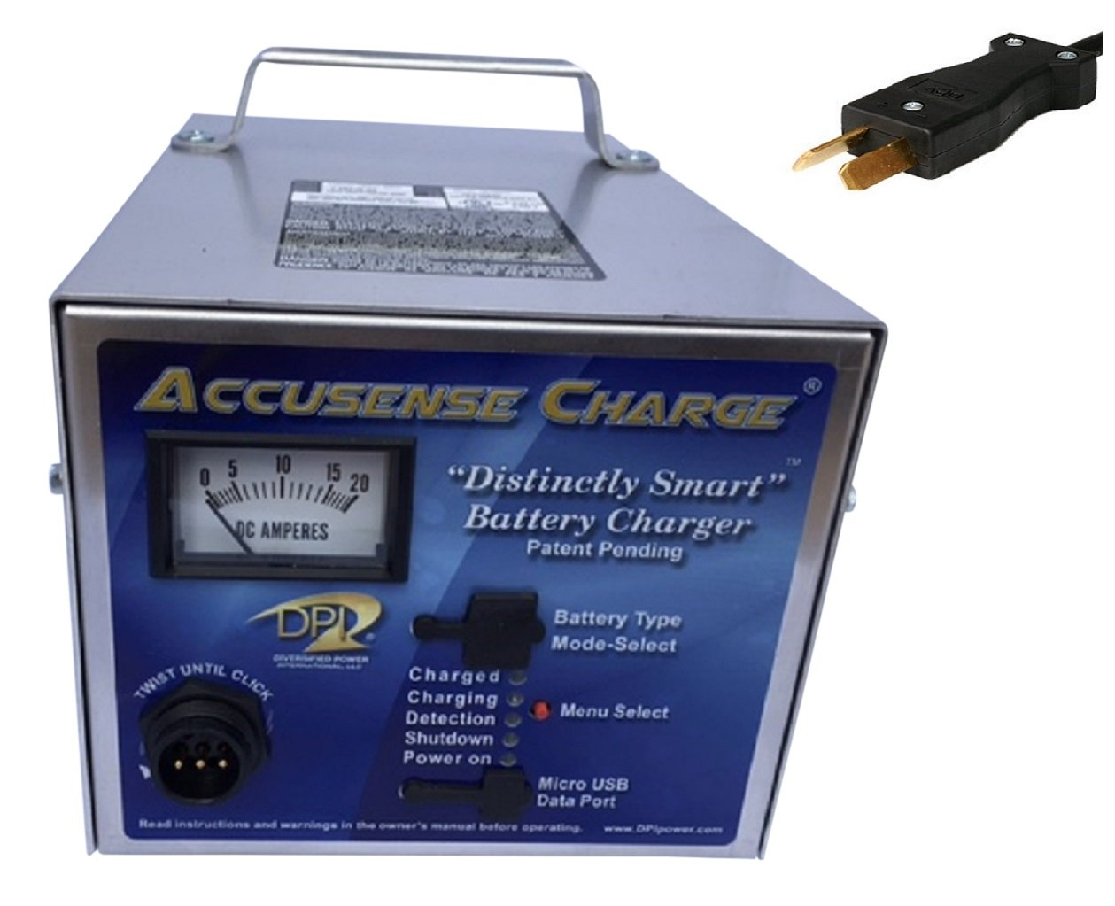 36volt 18 Amp Golf Cart Battery Charger with Crowfoot Connector by DPI Gen IV by Accusense Charge Series (Image #1)
