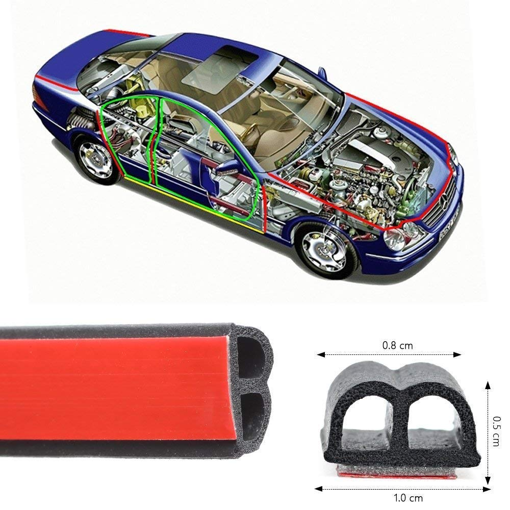 Haichen 5 m B-Charakteristik Selbstklebend Automotive Gummidichtung Streifen fü r Auto Tü r Fenster Motor Deckel Anti-Staub Dichtungsprofil WH-DC0021