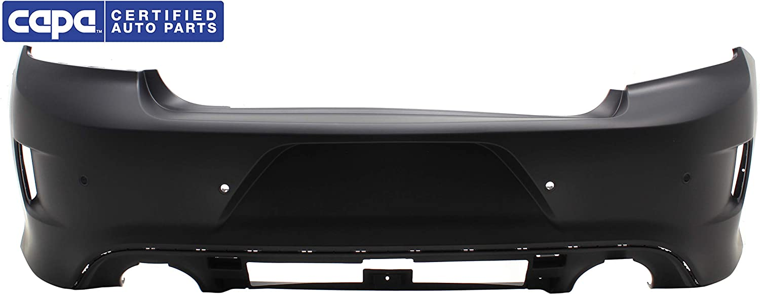 Rear Bumper Cover Compatible with DODGE CHARGER 2015-2017 Primed with IPAS Holes CAPA Daytona//R//T 392//R//T Scat Pack//SRT