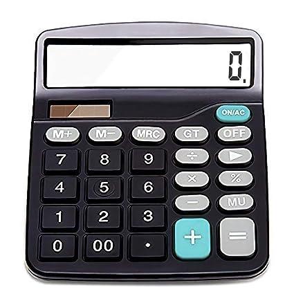 TISCHRECHNER GROSSEN TASTEN Taschenrechner 12-STELLIG MIT 2 DISPLAY