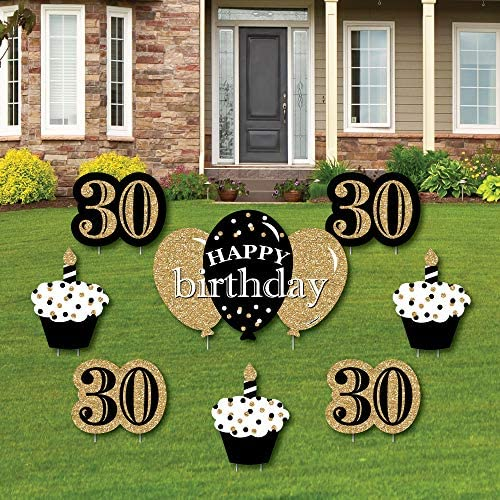 Adult 30th Birthday Outdoor Decorations