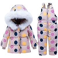Bebé Chicas Invierno Trajes de Nieve Capucha Abajo