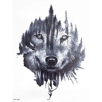 Just Fox – Tatuaje temporal, diseño de lobo, tatuaje temporal ...