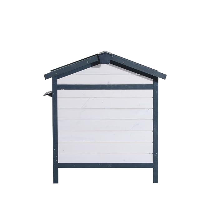 Cobertizo y jaula de madera con rampa para conejos, gallinas, etc. con cobertizo y barrera.: Amazon.es: Productos para mascotas