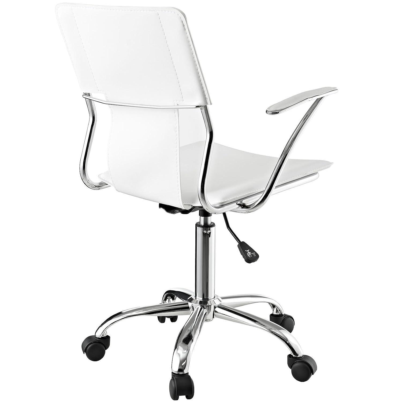 Amazon Modway Studio fice Chair in White Vinyl Kitchen