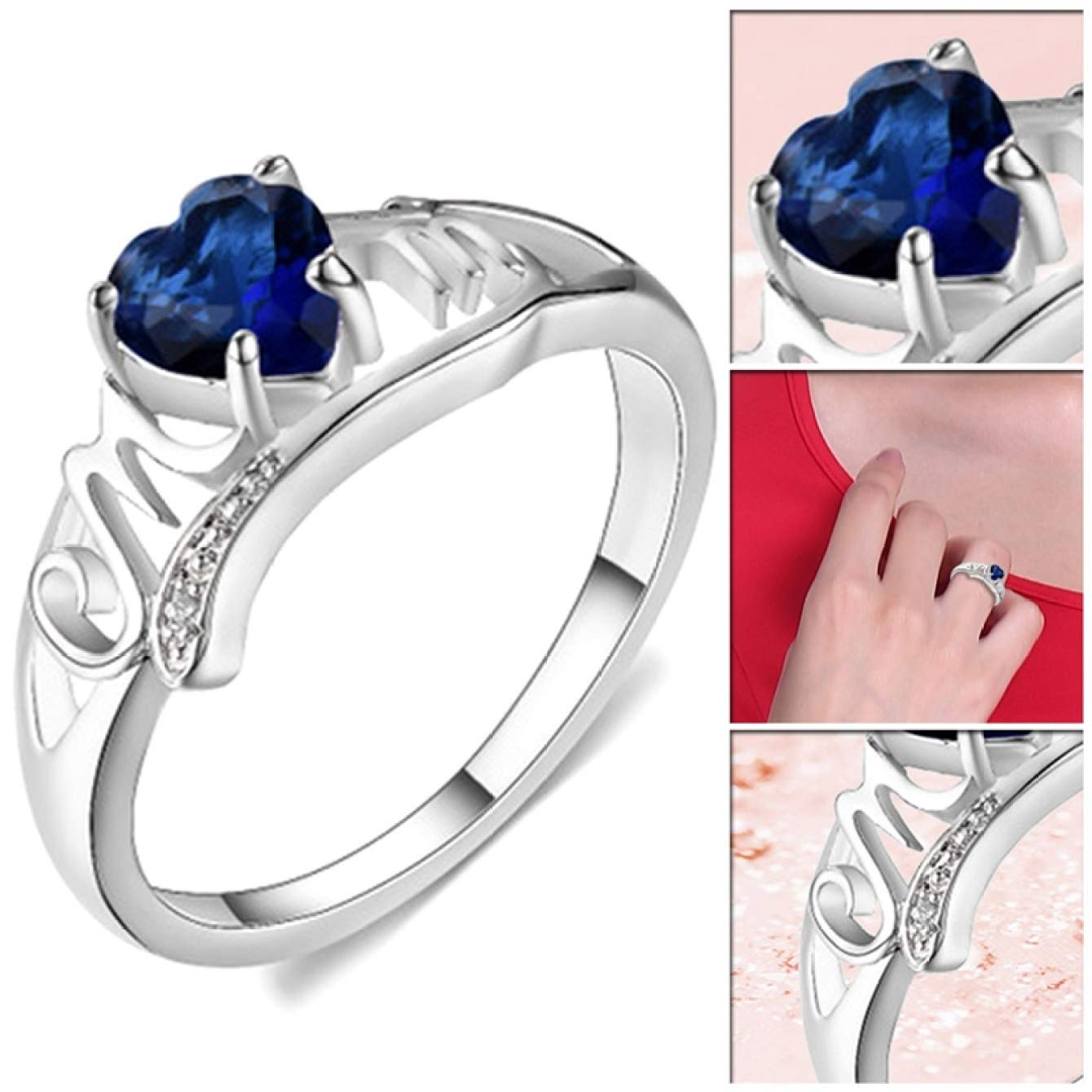 Multi Size Women Personalized Simple Delicate Handmade Ring for Mothers Day Birthday Christmas Day yjhdjyyj String Ring for Happy Mothers Day