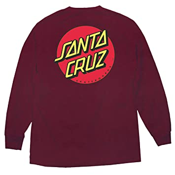 Amazon.com : Santa Cruz Skateboards Classic Dot Long Sleeve T ...