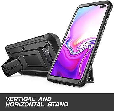 SUPCASE Unicorn Beetle Pro Series Coque pour Samsung Galaxy S10 Plus (version 2019) Double couche robuste avec holster et béquille sans protection ...