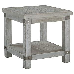 Ashley Furniture Signature Design - Carynhurst End Table - Distressed Finish - White
