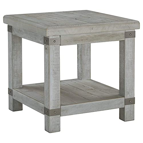 Signature Design by Ashley Carynhurst Rectangular End Table White Wash Gray