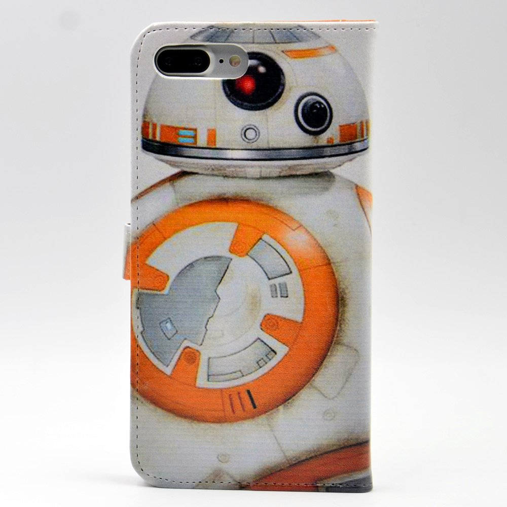 sports shoes 0b346 6f430 iphone 7 Plus Case BB-8 BB8 Droid Robot Pattern Leather Wallet Credit Card  Holder Pouch Flip Stand Case Cover For Apple iphone 7 Plus New