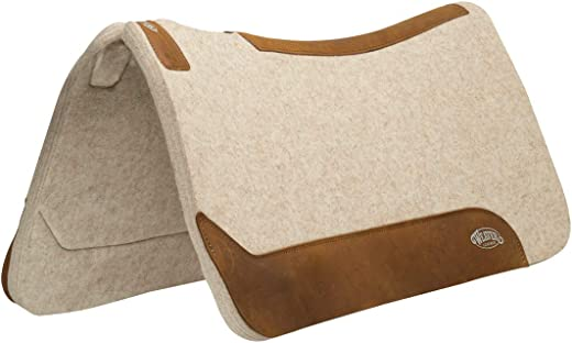 "Weaver Leather 35-2712-1 Contoured Wool Blend Felt Saddle Pad, 1"", Tan"