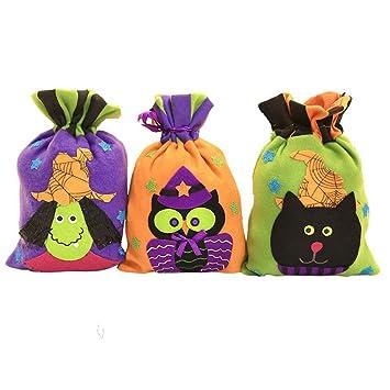 Amazon.com: Bolsas de lona para Halloween, con cordón para ...