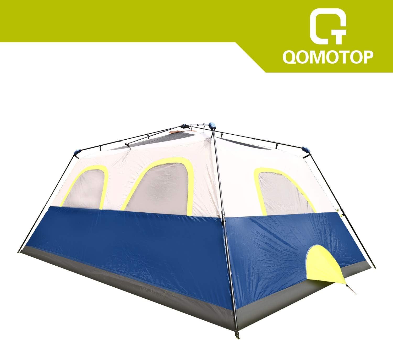 Instant Cabin Tent Camping Tent OT QOMOTOP Waterproof 4//6//10 People 60-Second Set Up Tent