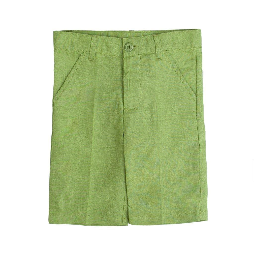 7 Years Classic Green Shorts Piccino Piccina Boy Short Spring Pants