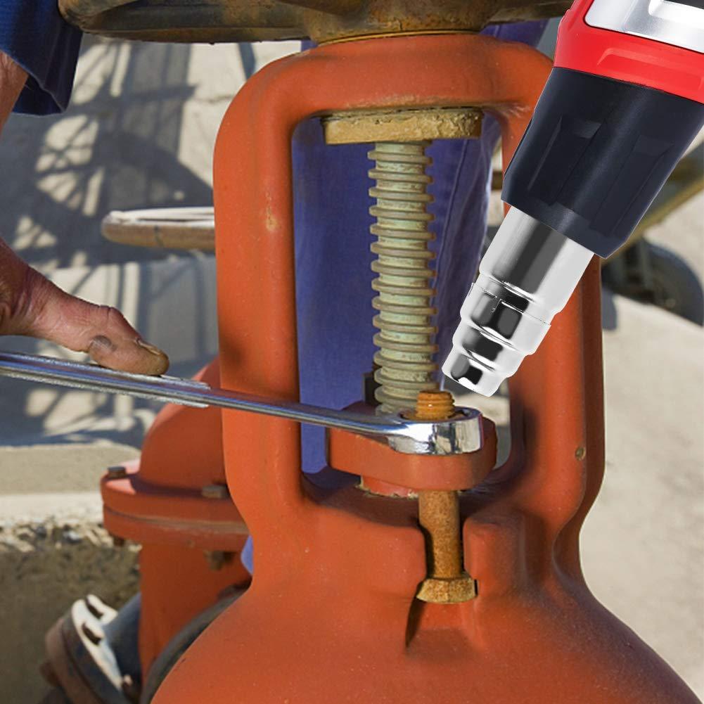TEENO Hei/ßluftpistole 2000 W Einstellbare Temperatur 50-600/°C Heissluftgebl/äse mit 8 Zubeh/örteilen