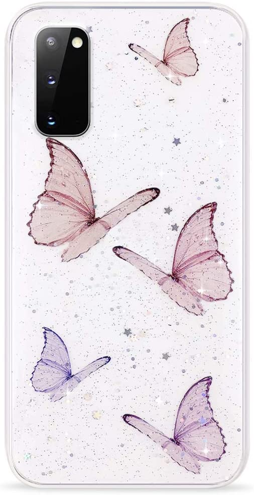 TPU Phone Case Cover for Samsung S20 5G,Petals Pattern Pink Petals Yellow Pink Print,Design in USA