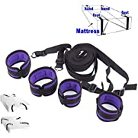 Soft Comfortable Cuffs for Ankle and Hand, Wrist - Fits Almost Any Size Mattress Bed Strap Set Kit