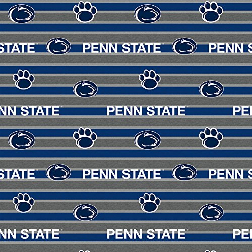 PENN STATE FLEECE BLANKET FABRIC-PENN STATE FLEECE FABRIC WITH AWESOME POLO STRIPE=SOLD BY THE YARD ()