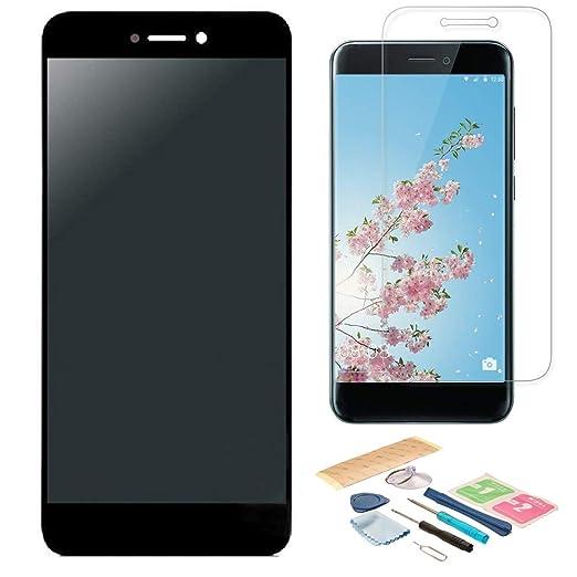 Pantalla LCD Táctil Asamblea Repuesto Compatible con Huawei P8 Lite Versión 2017 Negro con Herramientas + Película Templada Huawei P8 Lite 2017 + ...