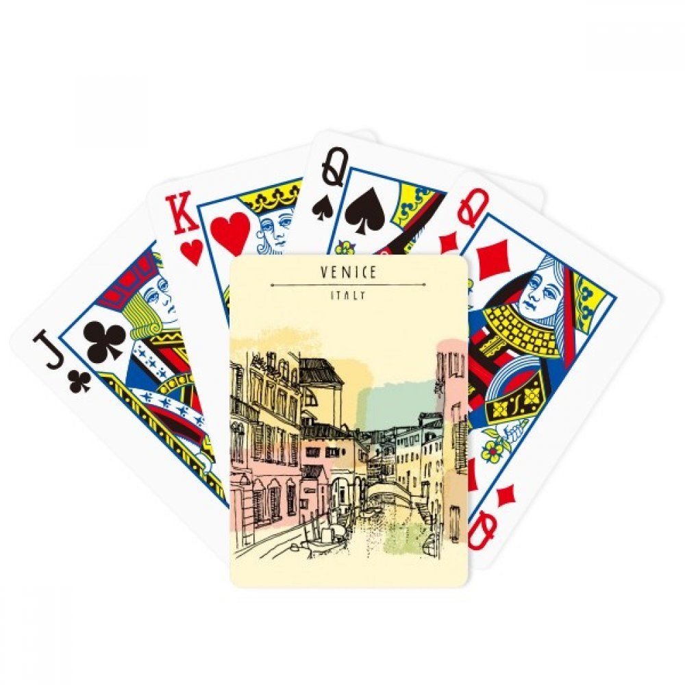 Italy Venice Customs Landmark Pattern Poker Playing Cards Tabletop Game Gift