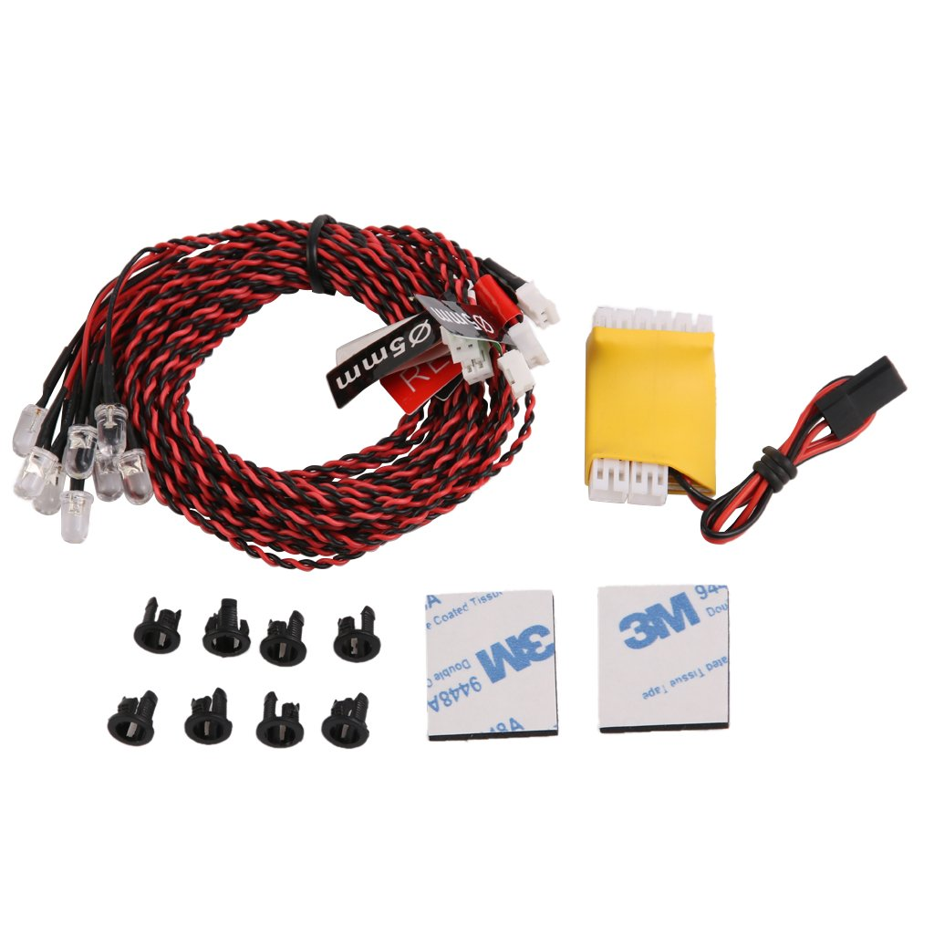SkyQ Flash RC LED Light Kit for RC Helicopter Airplane Aeroplanes Aircraft Plane Realistic 8 LED Lighting System