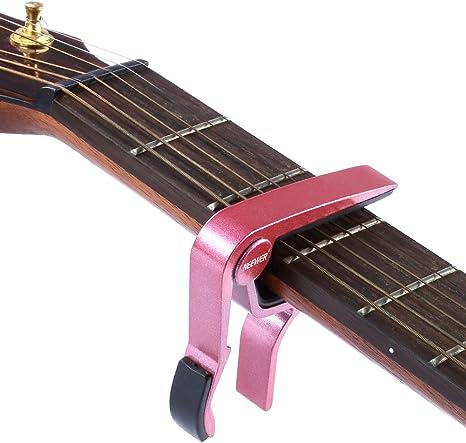 Neewer rojos Tune cambio rápido monomando de guitarra Capo ...