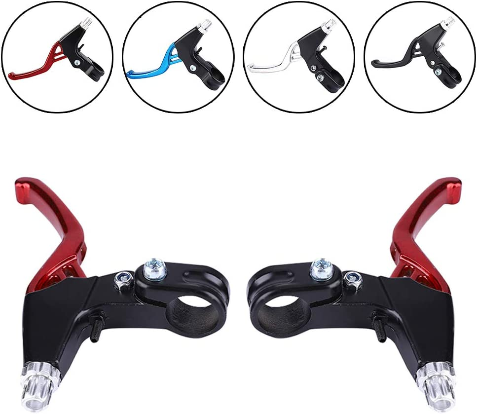 GOTOTOP Bike Brake Lever 1 Pair 4 Color High Strength and Durable Bicycle Brake Clutch Level with Aluminum Alloy Fixed Gear Brake Handles Suitable for Mountain Bike Folding Bicycle etc.