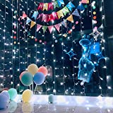 Ever Smart String Lights LED Curtain Lights Twinkle String White Lights 8 Modes New Version Fairy Linkable String Light for Christmas Party Wedding Patio Lawn Garden Decorative Lights (White)