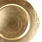 Koyal Wholesale Vintage Charger Plates, 4-Pack
