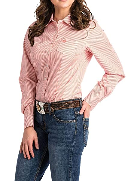 ca24c221 Cinch Womens Printed Long Sleeve Shirt Button Down Shirt: Amazon.ca:  Clothing & Accessories