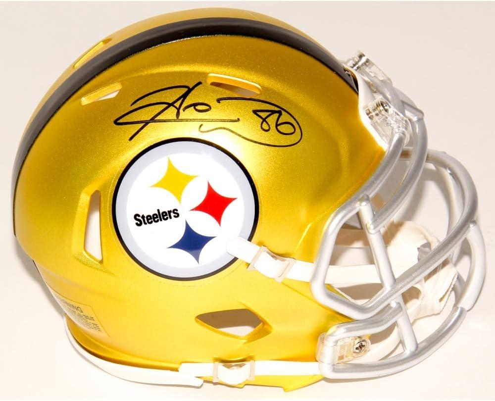 Hines Ward Pittsburgh Steelers Signed Autograph RARE BLAZE Mini Helmet JSA Witnessed Certified